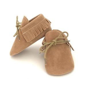 Other - New! Baby Moccasins with tie closure